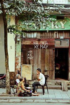 Hanoi, Vietnam street scene.