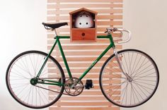 How quirky is this bike rack birdhouse?