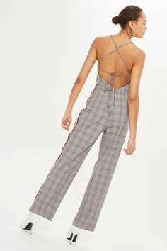 Checked Jumpsuit | Topshop