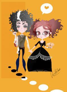 Sweeney Todd and Mrs.Lovett by nondekin