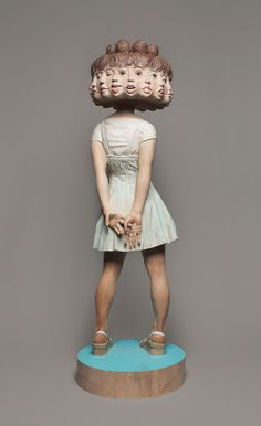 Japanese Sculptor, Yoshitoshi Kanemaki  Shows How He Transforms Wood Into Surreal Statues - BoredPanda