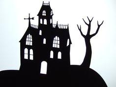 Halloween - haunted house papercuts