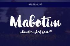 Mabotim Brush • 20% OFF by Creative.lafont on @creativemarket