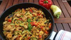 Flavours of Amellia: Lehký kuskus se zeleninou a kuřetem Paella, Fried Rice, Fries, Ethnic Recipes, Law, Food, Party, Essen, Parties