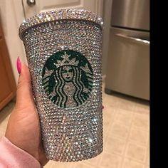 Starbucks Cup Personalized, Starbucks Tumbler, Swarovski Ab Crystal and Rhinestone Tumbler, Graduation Gifts Personalized Starbucks Cup, Custom Starbucks Cup, Starbucks Tumbler, Personalized Cups, Bedazzled Liquor Bottles, Bling Bottles, Copo Starbucks, Custom Cups, Best Gifts For Her
