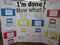 """Early Finisher Board - I don't teach Elem, but my kids are """"early finishers"""".... Therefore, I like the ideas :) Would make for some fun at home activities too :)"""
