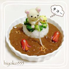 Octopus-angling Korilakkuma curry