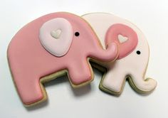 Sugar Mama Cookies: Pink Elephant Cookies for a Baby Shower