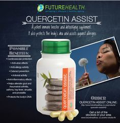 #Quercetin appears to have many beneficial effects on human #health, including #cardiovascular protection, #anti-cancer activity, anti-ulcer effects, #anti-allergy activity, #cataract prevention, #antiviral activity, and #anti-inflammatory effects. #supplements #healthyaging #futurehealthsa You can order Quercetin Assist online at http://online.vpmedical.co.za/index.php?route=product/product&path=64_67&product_id#utm_sguid=158307,bd8ade7b-152e-e83e-1009-1f02475ba682