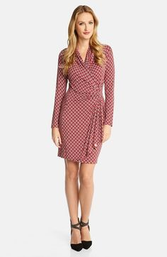 Karen Kane Foulard Print Cascade Faux Wrap Dress at Nordstrom.com. $138