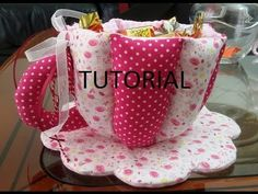 TAZZA IN STOFFA -TUTORIAL - YouTube