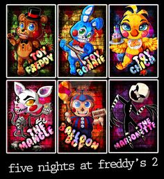 Chibi Set: Five Nights at Freddy's 2 by ToxicStarStudio