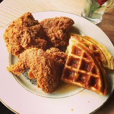 Fried chicken and waffles at Sweet Chick in Brooklyn, NY