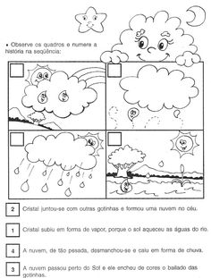 Tracing Worksheets, Preschool Worksheets, Classroom Activities, Science Experiments Kids, Science For Kids, Science Projects, Water Cycle Activities, All About Earth, Spanish Interactive Notebook