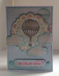 Card designed by Julie Hickey using Flying High collection.