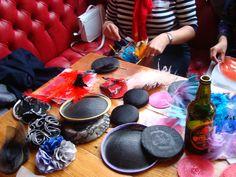 Hat Design Party at the Mesmerist, Brighton