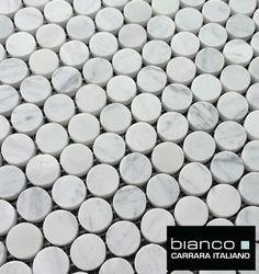 The grout provide a great anti-slip surface perfect for shower floors or bathroom floors. Carrara, Mosaic Tiles, Marble Mosaic, Mosaic Floors, Wall Tiles, Upstairs Bathrooms, Small Bathrooms, Master Bathroom, Dream Bath