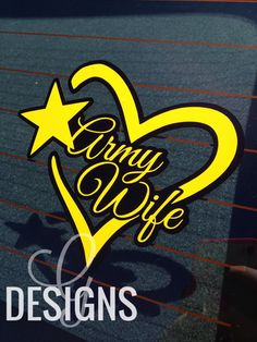 Army Wife Car Decal by gdesigns7 on Etsy