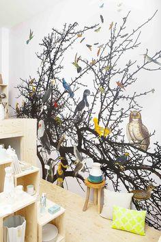 behang 'vogels' in winkel