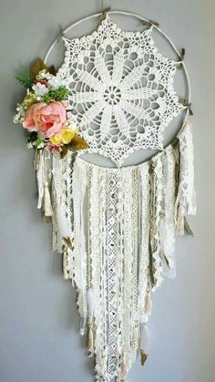 24 Inspiration Image of Crochet Dreamcatchers . Crochet Dreamcatchers Atrapasueos Flor Boho Atrapasueos Atrapasueos Diy Creative Picture of Crochet Dreamcatchers &…Crochet Dreamcatchers Patterns How To Crochet A…Crochet Jewelry Inspiration Doily Dream Catchers, Beautiful Dream Catchers, Dream Catcher Craft, Dream Catcher Boho, Dream Catcher Wedding, Doilies Crafts, Crochet Doilies, Mandala Crochet, Dreamcatcher Crochet