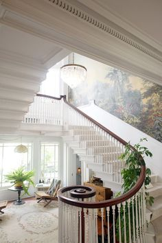 Love!! Give me an old house to redevelopment and bring back to live - grand entrance