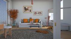 glass copper living room