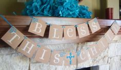 Bless this child banner, first communion banner, baptism, banners, sign, baby, new baby, confirmation