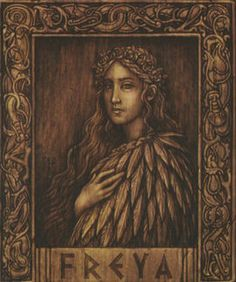 Freya is the Norse Vanir goddess of love, beauty, gold, and sorcery. She is a part of the Vanir tribe, twin sister of Frey, mother of Blitzen, and the ruler of Folkvanger - one of two places where Norse warriors go after death (the other being Valhalla). Magnus and Blitz first meet Freya, when they accidentally travel to her realm - Folkvanger. There, in the hall of Sessrumnir, they meet the goddess who is revealed to be Blitz's mother.