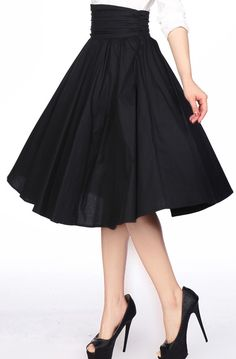 1950s High Ruched Waist Skirt by Amber Middaugh Standard Size $39.95 Plus Size $45.95