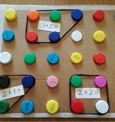 Math game idea, have kids pull card and create math problem . Math game idea, have kids pull card and create math problem . Math Board Games, Math Boards, Math Games, Preschool Activities, Preschool Learning, Kindergarten Math, Teaching Math, Math Math, Multiplication