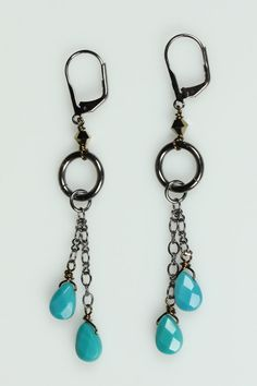 handmade earrings .. love turquoise.