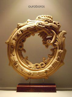 Ouroboros: New earth art mayan calendar sculpture heidi woodman - large sculptures gallery