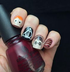 16 Harry Potter Nail Art Ideas That Are Simply Magic