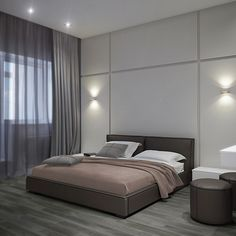Bedroom_9 Wall Design, House Design, Classic House, Home Look, Conservatory, Room Inspiration, Basement, Master Bedroom, Bedrooms
