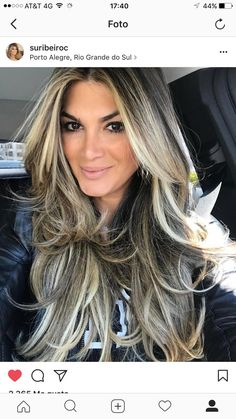 Hair color blonde haircuts balayage ideas for 2019 Blonde Layered Hair, Blonde Hair With Highlights, Blonde Ombre, Thick Highlights, Ombre Highlights, Blonde Haircuts, Ombré Hair, Hair Color And Cut, Long Hair Cuts