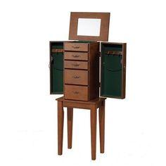 Jewelry Armoire Furniture Drawers Box Storage Mirror Chest Organizer Storage