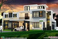 awesome Modern box type 2700 sq-ft home