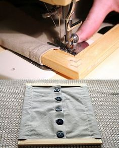 Cadre d'habillage Montessori: les gros boutons. A fabriquer avec un cadre…