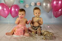 Twin Cake Smash by Kist Photography Twin Cake Smash, Twins Cake, Photographs, Birthdays, Fun, Anniversaries, Photos, Birthday, Hilarious