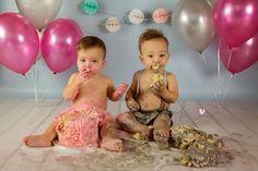 Twin Cake Smash by Kist Photography