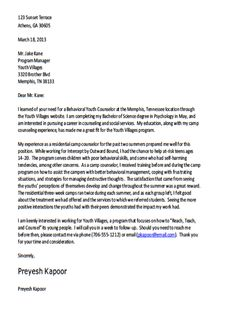 Types Of Cover Letter Template 1 Cover Letter Template Sample