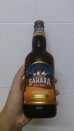 Sahara craft beer - sunset lager