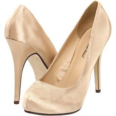 possible shoe option. chocolate brown dress and champagne shoes? i'm so terrible at accessories.