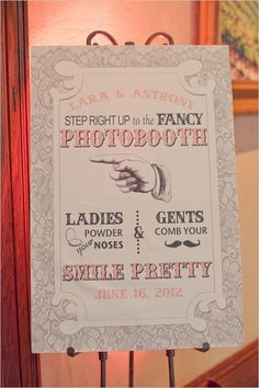 fancy photo booth sign