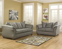 Darcy - Cobblestone - Sofa & Loveseat by Signature Design by Ashley. Get your Darcy - Cobblestone - Sofa & Loveseat at CLS Factory Direct, Columbus OH furniture store. Sofa And Loveseat Set, Loveseat Sofa, Living Room Sets, Living Room Collections, Sofa, Furniture, Love Seat, Room Set, Home Decor
