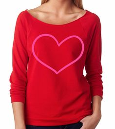 Sweater with Heart. Sweatshirt. Valentine's Day. Light Weight Sweatshirt. Valentine. Valentine's Shirt. Valentine Shirt. Women's Sweatshirt. by strongconfidentYOU on Etsy https://www.etsy.com/listing/173814487/sweater-with-heart-sweatshirt-valentines