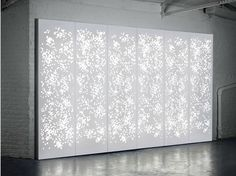 Krion® wall tiles / room divider Light Wall by Isomi   design paul crofts