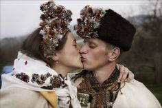 Real Hutsul wedding. Traditional costumes. Folk. Ukraine. Photo Youry Bilak http://hutsulexhibition.com/gallery-photos-wedding.php