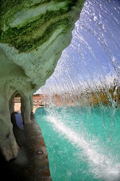 Behind the waterfall, Puerto Plata, Dominican Republic