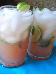Rhubarb Mojitos. The official drink of summer.